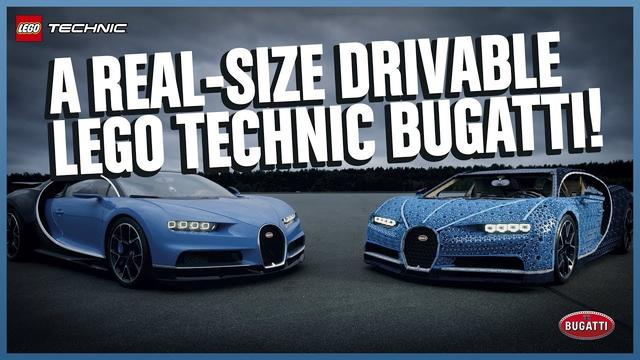 画像: The Amazing Life-size LEGO Technic Bugatti Chiron that DRIVES! youtu.be