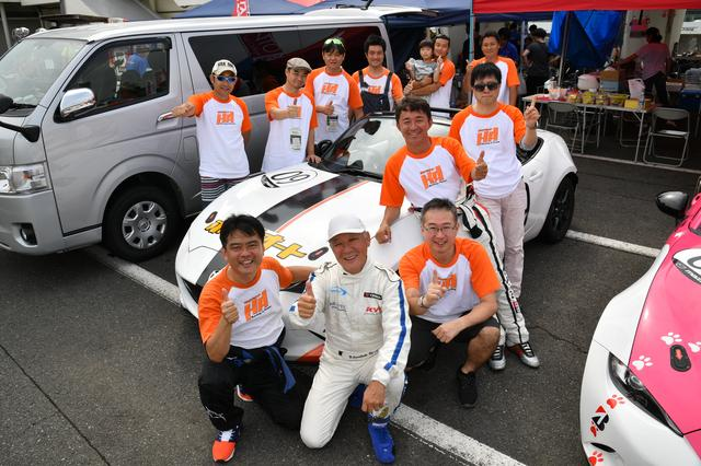 画像: ドライバーはレース経験が豊富なメンバーを揃えた。また、レースをサポートしてくれる人にも感謝感謝。