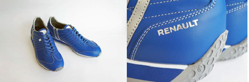 画像: RENAULTのロゴが入ったスニーカー。当選者数は15名だ。