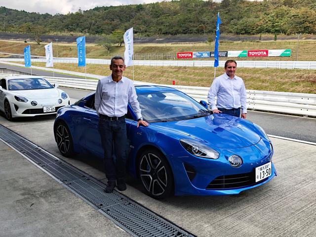 画像: 左がテストドライバーのデビッド・プラッシュ氏、右がメカニックエンジニアのリオネル・クルトゥーズ氏。