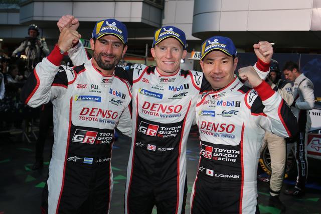 画像: 母国富士で開催されたレースで、トヨタは見事にワン・ツー・フィニッシュを飾った。写真は優勝した7号車の小林 可夢偉/マイク・コンウェイ/ホセ・マリア・ロペス組。