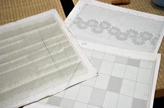 結城紬の模様の設計図がこれだ。