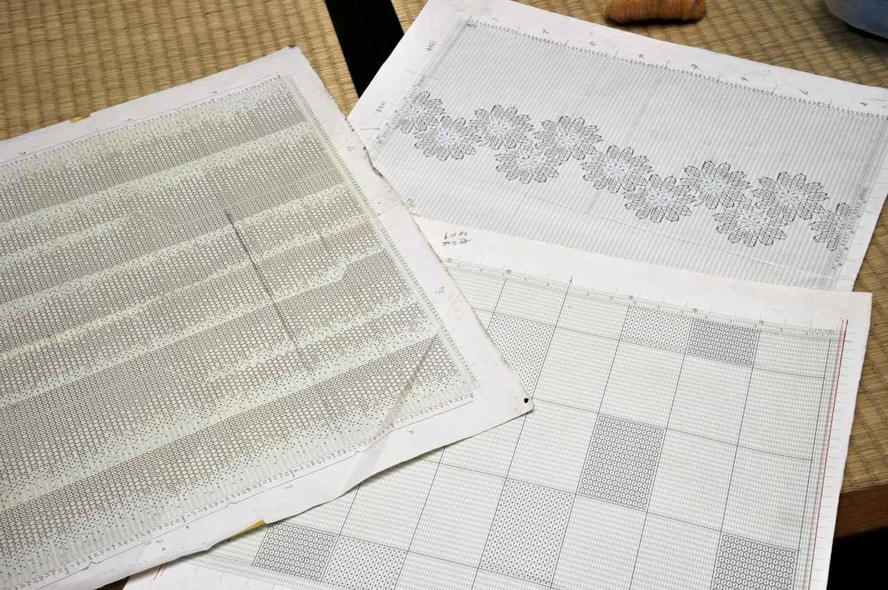 Images : 結城紬の模様の設計図がこれだ。