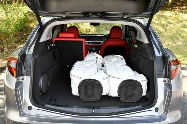 画像: キャディバッグ2本を積載。