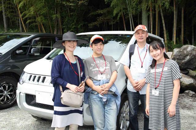 画像: デリカD:5でご参加の野平さんファミリー。一度、他車に乗ってからデリカの良さを再確認したとか。