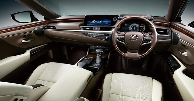 画像: ES300hバージョンL(オプション装着車)のインテリア。内装色はリッチクリーム。