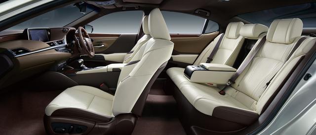 画像: ES300h バージョンL(オプション装着車)のシート。内装色はリッチクリーム。