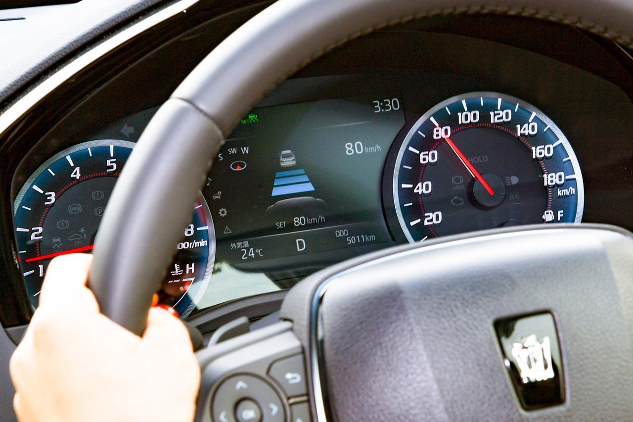 画像: トヨタ クラウンの「レーダークルーズコントロール」に、システム上の上限速度はない。天候や路面などの環境を考慮して、ユーザーが適切に設定するよう促している。