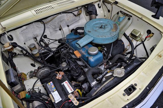画像: 16万km走ってもトラブル知らずだったA型エンジン。初代サニー搭載時は988ccで、2代目では1171ccに拡大された。