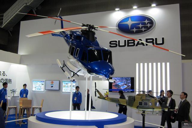 画像: スバルの民間向け最新ヘリコプター「スバル ベル 412EPX」の模型は5分の2スケールなので、全長は約6.8mもある。