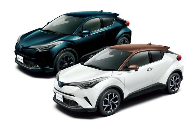 画像: 手前がトヨタ C-HRの特別仕様車「モード-ブルーノ」で、奥が「モード-ネロ」。