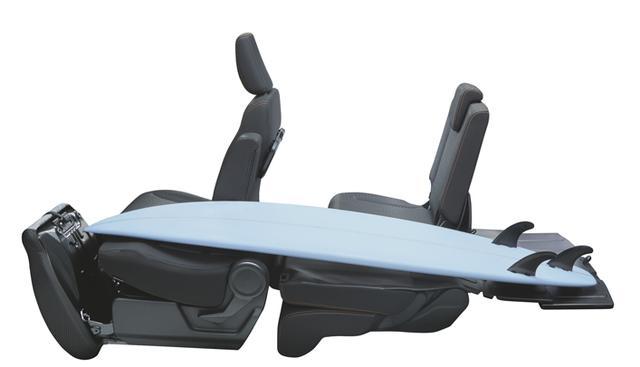 画像: 助手席を倒せば長尺物の積載も可能。さまざまなシチュエーションで活躍しそうだ。