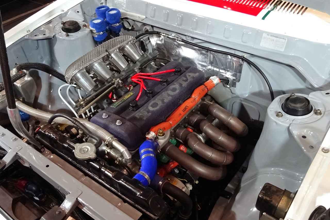画像: OHVの1.2Lだった3Kエンジンを4バルブDOHCにしてしまった3K-R(137E)。1.3Lながら180馬力を発生した。