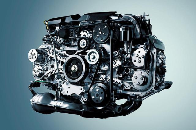 画像: 新型フォレスターや現行レガシィに搭載されるFB25型の水平対向エンジン。