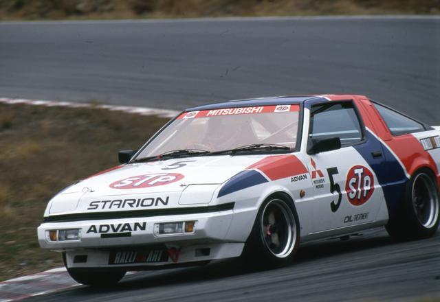 画像: ミツビシのレース車で鮮烈な印象に残るのはスタリオン。初期のグループAレースで活躍した。