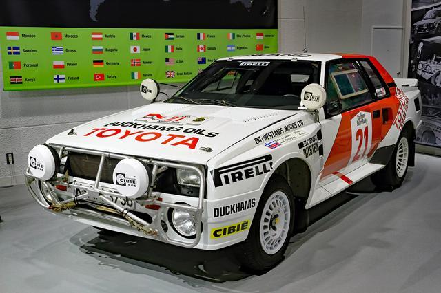画像: メガウェブのヒストリーガレージには1985年のサファリラリー優勝車が展示されている。