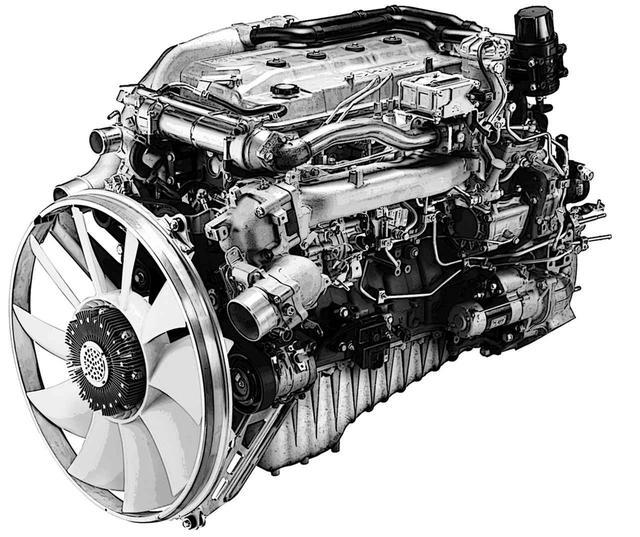 画像: レンジャー用ではなく、大型バス/トラック用A09C-TIエンジンを搭載する。本来、排出ガスの浄化を目的としたコモンレール燃料噴射装置+インタークーラ付ターボのチューンで、低回転でも強大なパワーを発揮する。