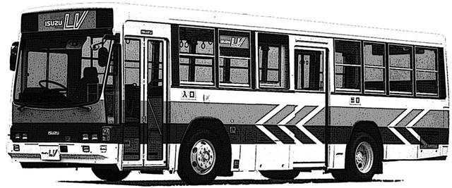 画像: 先々代のキュービック・シリーズ(1984〜2000年)。この画像は、ビッグマイチェンでH6/KC規制を達成した1995年式ワンステップ型。前面が曲面2枚ガラスのタイプもある。