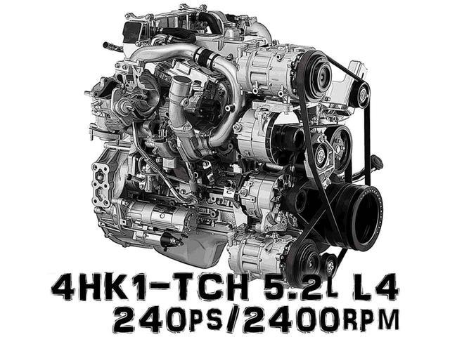 画像: いすゞ エルガ・シリーズの最新、2017年式に搭載されている、4HK1-TCH型エンジン。5.2L 直4の超小型・超高効率エンジンだ。