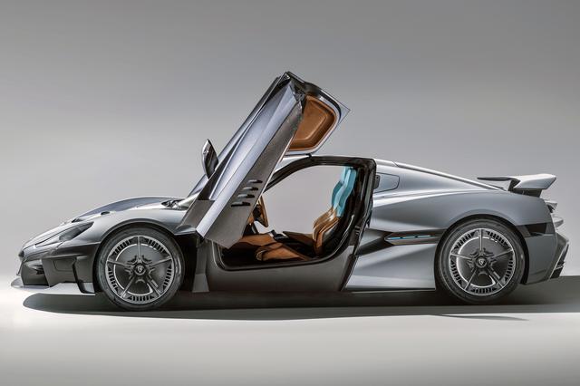 画像: Cd=0.28。マクラーレン車のようなアンヘドラルドアも採用している。