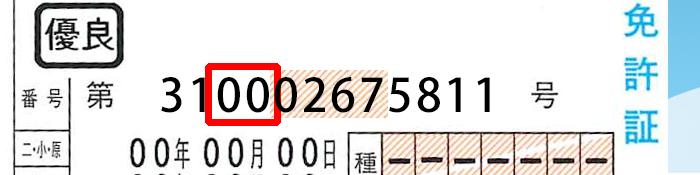 意味 番号 免許 証