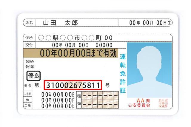 画像: 運転免許証に書かれた12桁の番号には、意味がある。