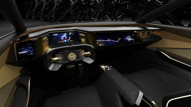 画像: ステアリングは、自動運転中は格納することができる。