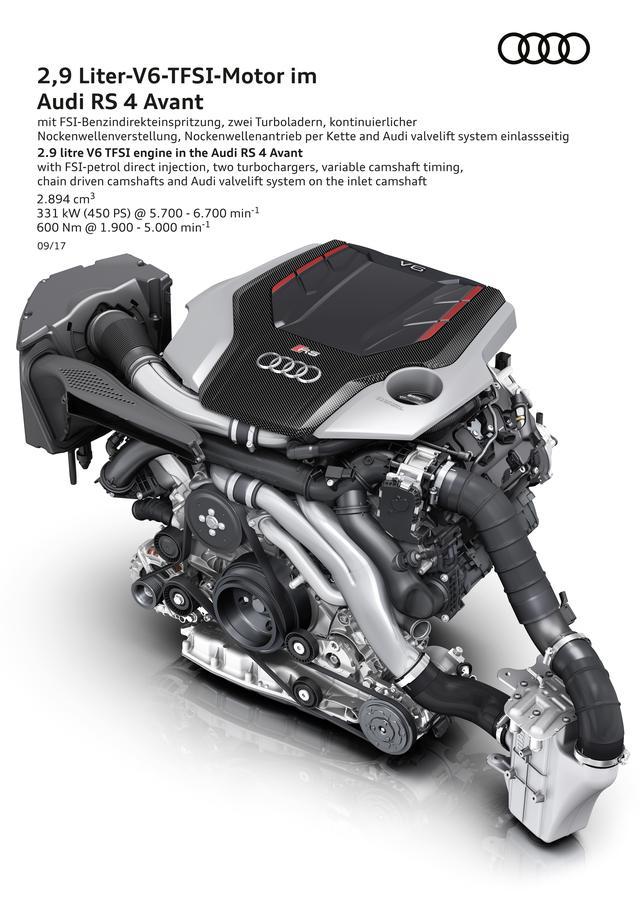 画像: 2.9L V6ツインターボエンジンは最高出力450ps、最大トルク600Nmを発揮。