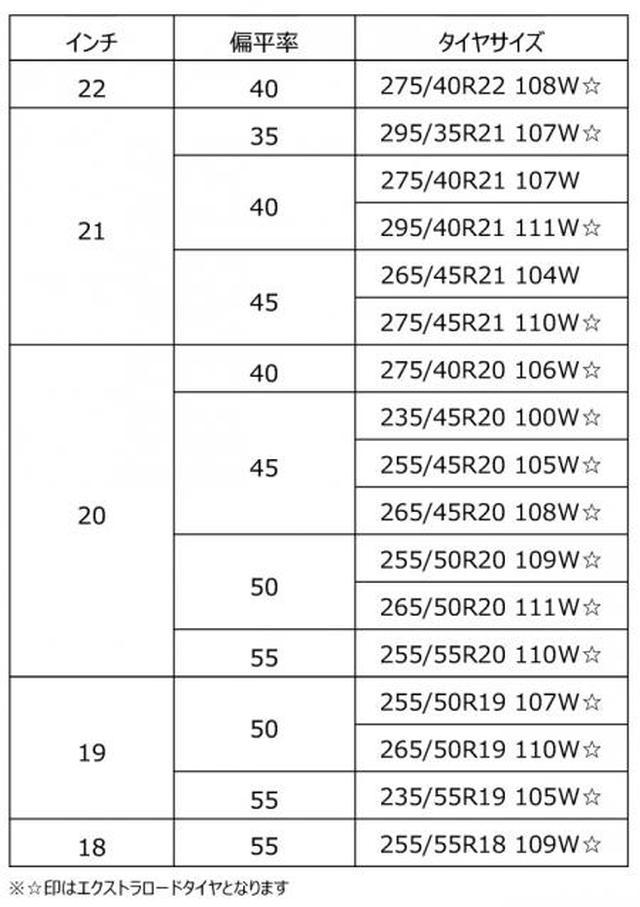 画像1: ジオランダーX-CV サイズ表
