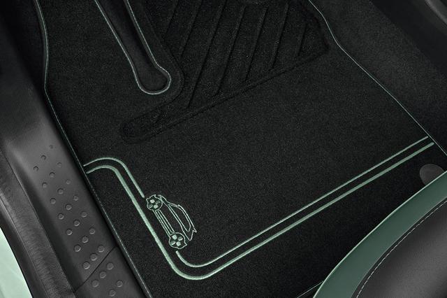 画像: フロアマットも専用デザイン、プロテクションモールやキッキングプレートにロゴが入る。