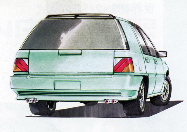 画像: ユニークなデザインのリアコンビランプは市販車に継承された。