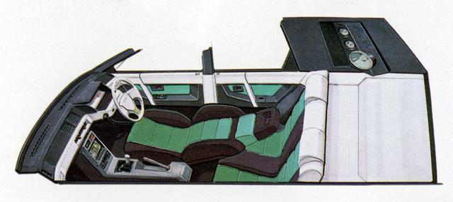 画像: 現代なら「車中泊」を想定したようなインテリアだった。