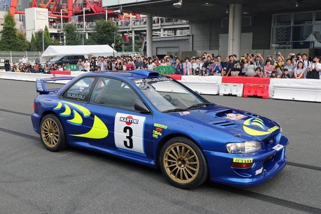 画像: スバル・インプレッサ WRCも走行する。