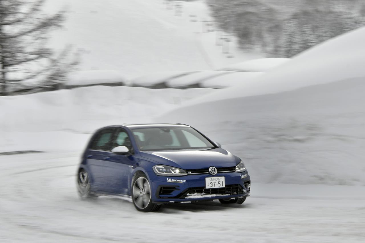 【試乗】雪道でゴルフRならではと言える、新たな走りの魅力を発見した