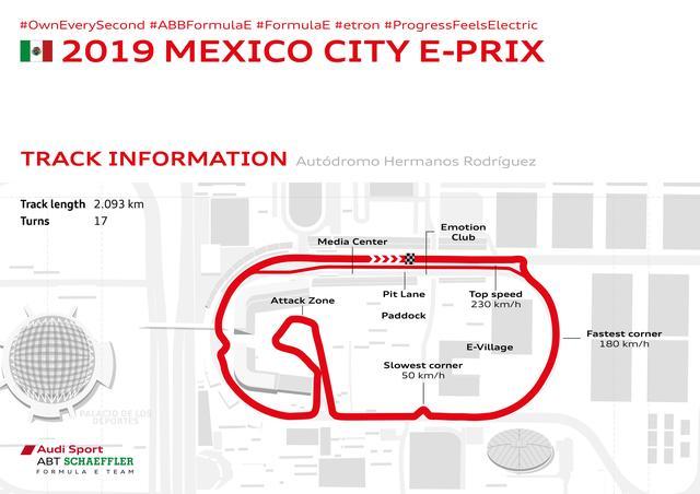 画像: 第4戦メキシコシティE-Prixはアウトドローモ・エルマノス・ロドリゲス・サーキットで行われた。