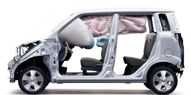 画像: 前後席対応のサイドカーテンエアバッグは軽自動車初採用。