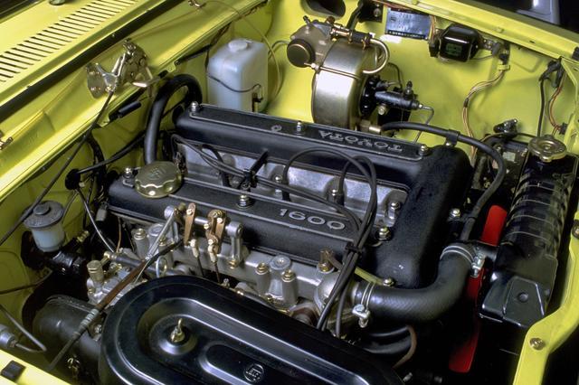 画像: 1.6L DOHCの9R型は、ソレックスのツインキャブも装着して110psと14.0kgmを発生した。