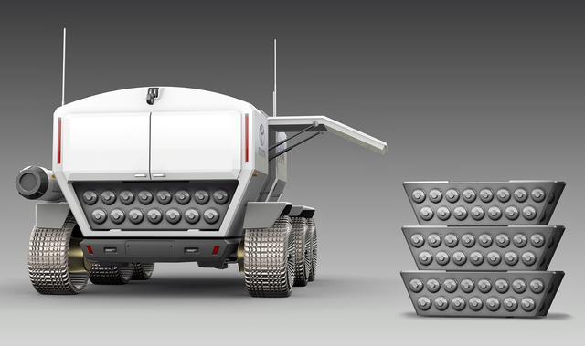 画像: 燃料電池車技術を用いた有人月面探査活動車の検討を協力