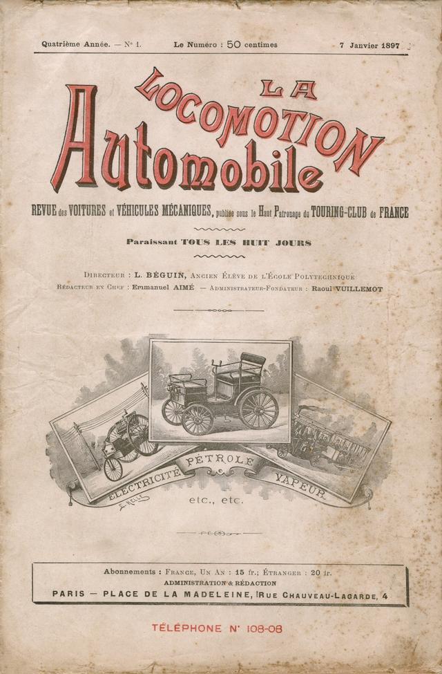 画像: 世界初の自動車雑誌「La Locomotion Automobile」