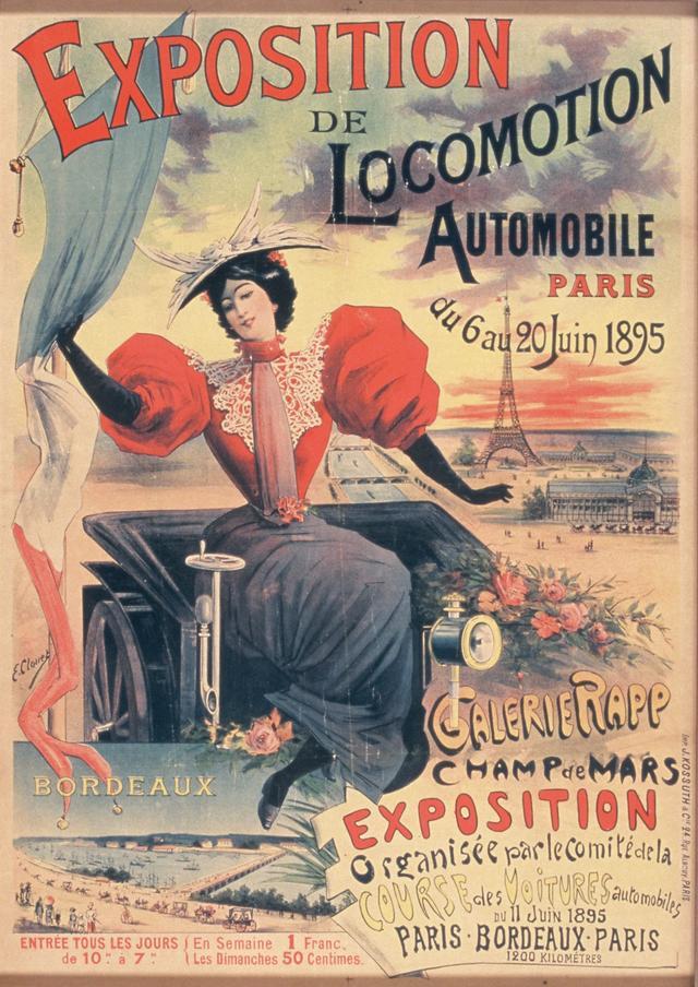 画像: 世界初のモーターショー、パリ自動車ショー(1895年)のポスター