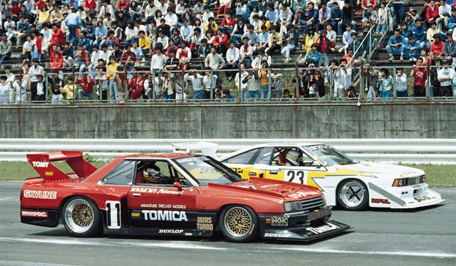 画像: 日産ターボ軍団の競演に、メインレースのGC以上に注目が集まった。星野はGCはリタイアに終わるが、シルエットレースでは、1位を獲得する(1983年5月3日富士GCシリーズRd2)。