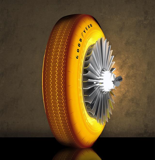 画像: 半透明でゴールドに光るタイヤ