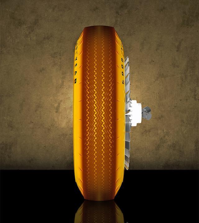 画像: タイヤは新たにグッドイヤーが製作した