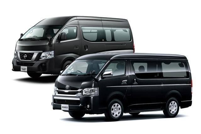 画像: トヨタハイエースや日産NV350であれば、車両総重量3.5t未満のため普通自動車免許で運転できる。マイクロバス仕様を除く。