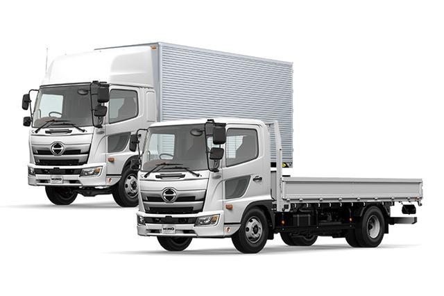 画像: 日野自動車のレンジャーシリーズの中に、8t限定中型自動車免許で運転できるモデルは多い。