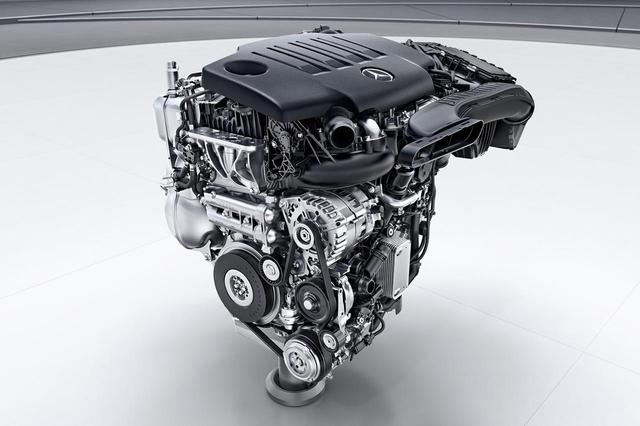 画像: 新開発された2L直4ターボの「OM654q」エンジンがA200dに搭載される。