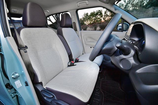 画像: eKワゴンのフロントシート
