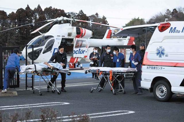 画像: 救急搬送のイメージ。