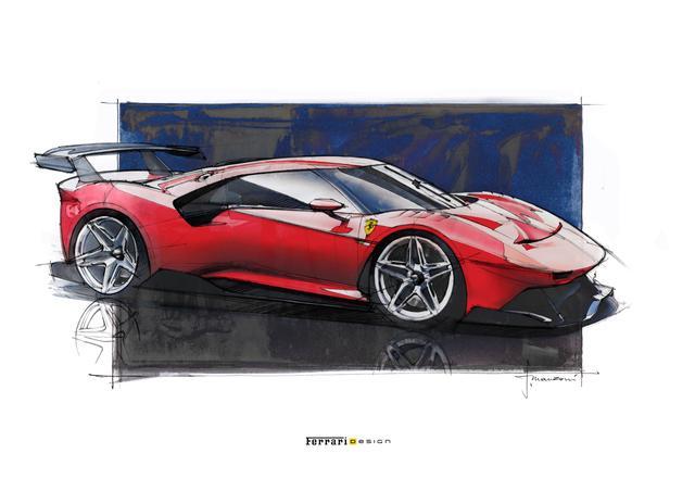 画像: デザインはフラビオ・マンツォーニの指揮の下、フェラーリ・スタリングセンターで行われた。