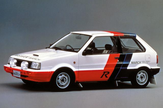 """画像: 1988年に登場した""""マーチR""""。89年のサファリやアクロポリスなどWRCでクラス優勝したほか、同年の全日本ラリーではBクラスでシリーズ優勝も果たした。"""